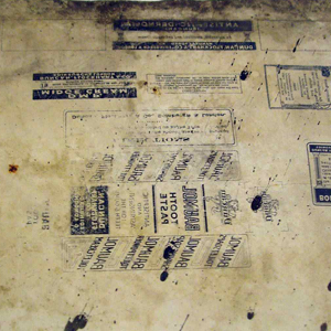 Surface of the old lithographic stone