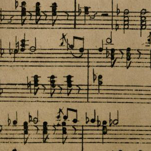 Lithographically printed music notes