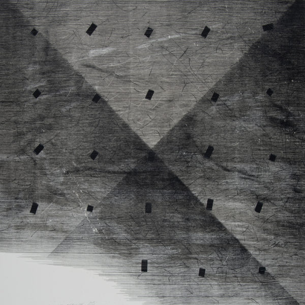DEREFERENCJE_03 /  Litografia na marmurze, collage /  74x51cm /  2016