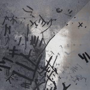 DEREFERENCJE_05/N /  Litografia na marmurze, szablon/  74x51cm /  2017