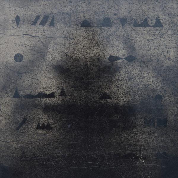 MOJE SERCE JEST Z KAMIENIA / Litografia na marmurze / 32x32cm /  2015
