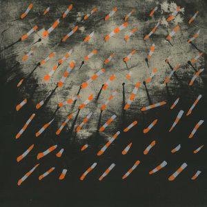 SCHEMAT RANDOMIZACJI_04 /  UV lithograph on marble /  51 x 74 cm / 2018