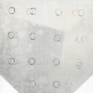 SCHEMAT RANDOMIZACJI_07 /  lithograph on marble /  51 x 74 cm / 2018